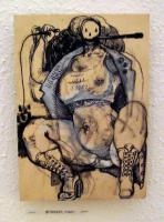 Marc Groeszer / Gouache auf Holz / 2011