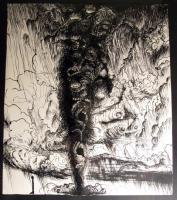 Michael Wutz / Tuschezeichnung auf Papier / 2009